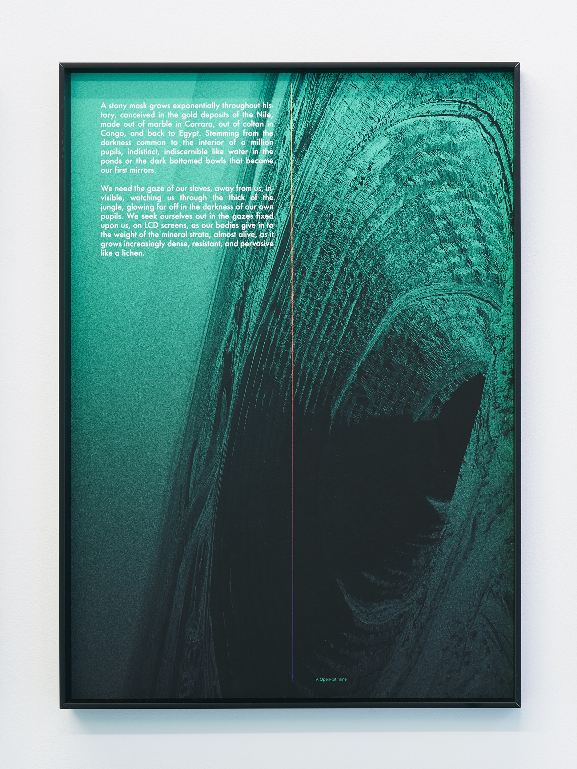 David Ferrando Giraut, Notes for a Genealogy of the Mineral Image, 2015.