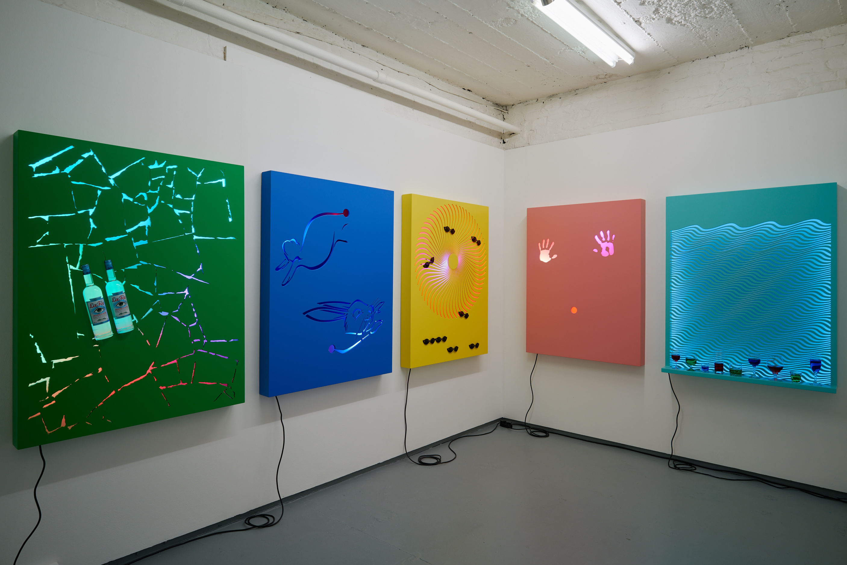 David Ferrando Giraut, Vortex series, 2015. Installation view
