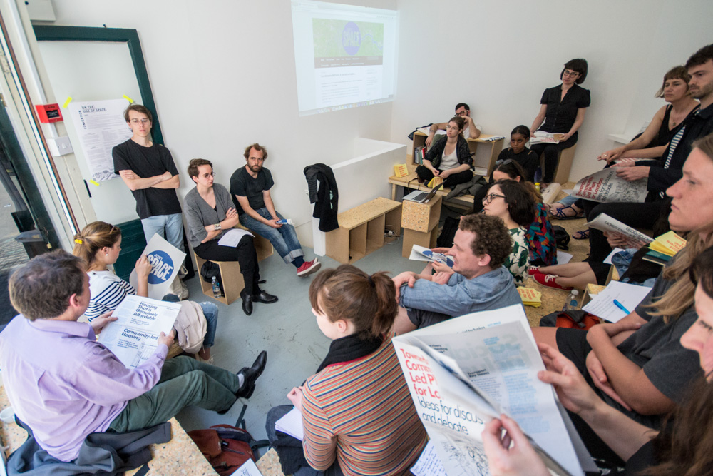 Squash and Just space presentations, Urban Commons events, Tenderpixel.