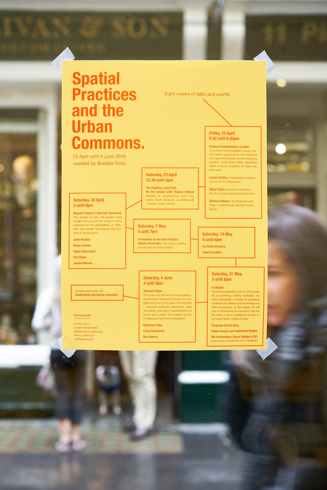 Urban Commons poster. Tenderpixel.