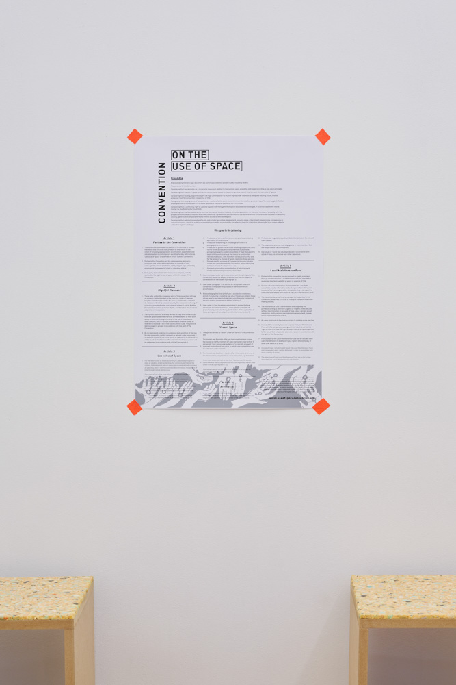 Adelita Husni-Bey, Convention on the Use of Space. Poster.