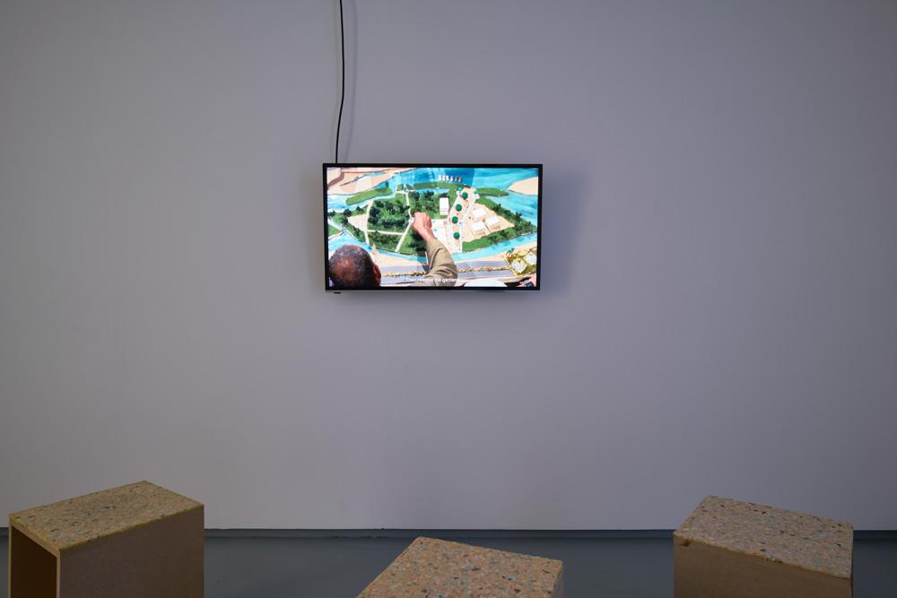 Adelita Husni-Bey, 'Ard' (Land), 2014, Installation view. Tenderpixel.