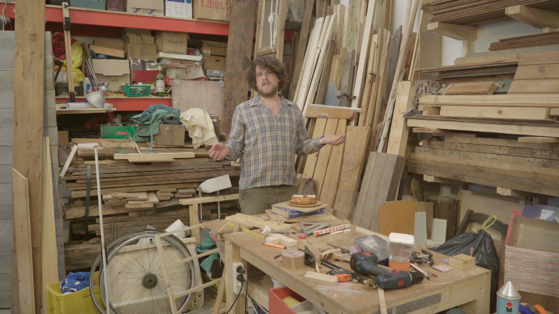 CONGLOMERATE, still from The New Domestic Woodshop, directed by Ethan Hayes-Chute and Derek Howard.